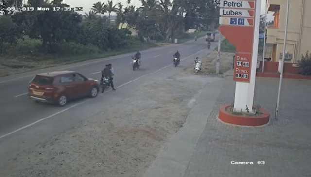 car-in-wrong-way-hits-two-wheeler