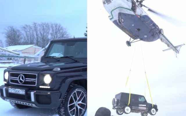 disgruntled-russian-man-drops-his-mercedes-from-a-helicopter