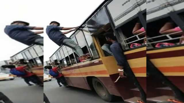 chennai-college-students-dance-on-government-bus