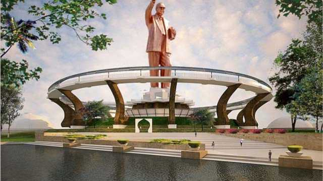 ambedkar-memorial-s-height-to-be-increased-by-100-feet